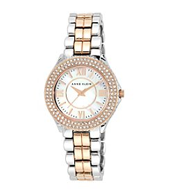 Anne Klein® Rose Gold Two-Tone Crystal Watch