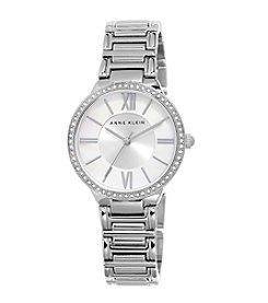 Anne Klein® Crystal Bezel Bracelet Watch