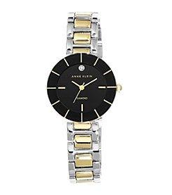 Anne Klein® Two-Tone Diamond Dial Watch