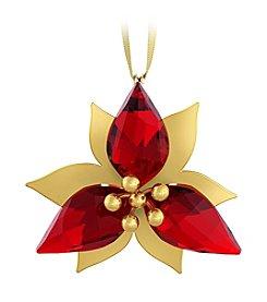 Swarovski® Poinsettia Gold Ornament