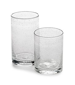 Ruff Hewn Bubble Clear Glassware