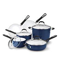 Cuisinart® Elements 10-pc. Blue Ceramic Cookware Set + FREE Stainless Steel Bowls and Prep Set