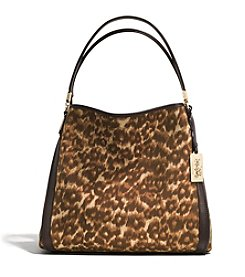 COACH MADISON SMALL PHOEBE SHOULDER BAG IN OCELOT PRINT FABRIC