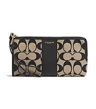 COACH LEGACY L-ZIP WALLET IN PRINTED SIGNATURE FABRIC