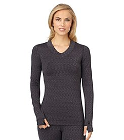 Cuddl Duds® FlexFit Long Sleeve V-Neck Top