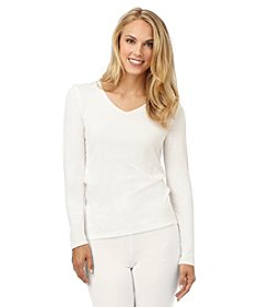 Cuddl Duds® Softwear with Lace V-Neck Top