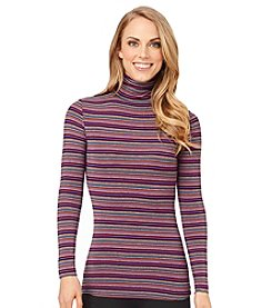 Cuddl Duds® Softwear with Stretch Turtleneck Top - Stripe