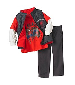 Nannette® Boys' 2T-7 Spider Man Vest Set