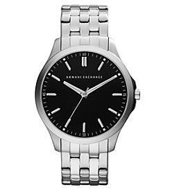 A X Armani Exchange Stainless Steel Watch with Black Dial