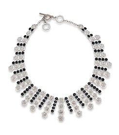 Carolee® Black Deco Nights Dramatic Collar Necklace