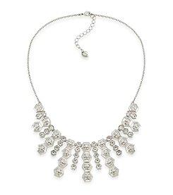 Carolee® Silvertone Deco Nights Frontal Shower Necklace