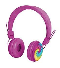 Black Series Noise Isolation Tie Dye Print Headphones