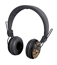 Black Series Noise Isolation Camouflage Print Headphones
