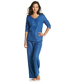 Intimate Essentials® Embossed Fleece Pajama Set