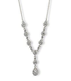 Givenchy® Silvertone Pear Y Necklace