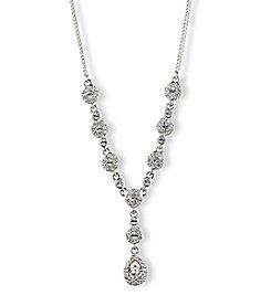 Givenchy® Silvertone Pear Y Necklace