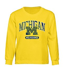 Genuine Stuff Boys' 4-7 Long Sleeve NCAA Michigan Tee