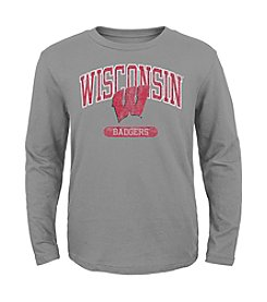 Genuine Stuff Boys' 4-7 Long Sleeve NCAA Wisconsin Tee