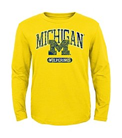 Genuine Stuff Boys' 8-20 Long Sleeve NCAA Michigan Long Sleeve Tee