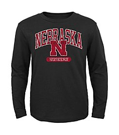 Genuine Stuff Boys' 8-20 Long Sleeve NCAA Nebraska Tee