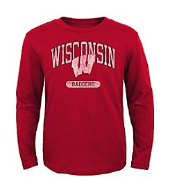 Genuine Stuff Boys' 8-20 Long Sleeve NCAA Wisconsin Tee
