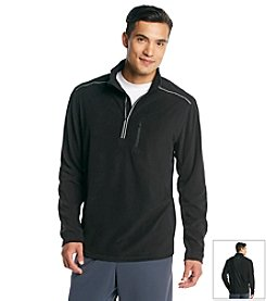 Exertek® Men's Midnight Black Active Long Sleeve Quarter-Zip Micro Fleece Top