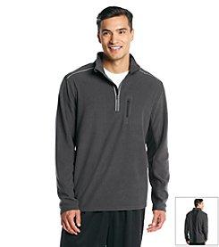 Exertek® Men's Asphalt Gray Active Long Sleeve Quarter-Zip Micro Fleece Top