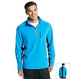 Exertek® Men's Athens Blue Active Long Sleeve Quarter-Zip Micro Fleece Top