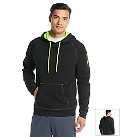 Exertek® Men's Midnight Black Active Pullover Fleece Hoodie