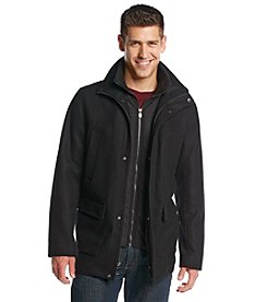 Calvin Klein Men's Wool Stadium Jacket with Bib