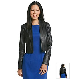 Calvin Klein Faux Leather Jacket Shrug