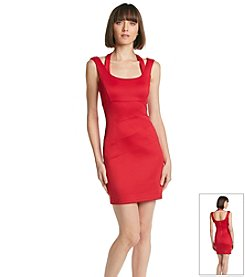 GUESS Halter Strap Scuba Sheath Dress