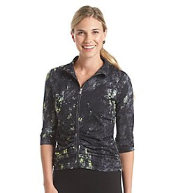 Calvin Klein Performance Illusions Ruched Jacket