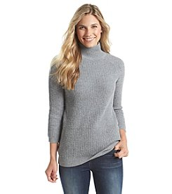 ruff hewn GREY Tuckstitch Turtleneck Sweater
