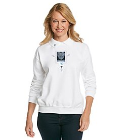 Morning Sun® Heart Patch Sweatshirt