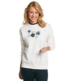Morning Sun® Denim Flower Sweatshirt