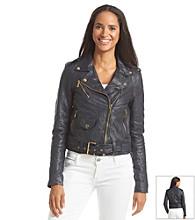 MICHAEL Michael Kors® 100% Leather Cropped Moto Jacket