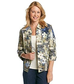 Alfred Dunner® Petites' Amsterdam Avenue Floral Print Jacket