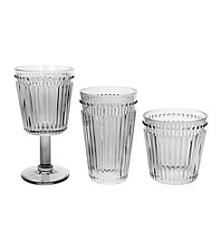 Zrike Brands Set of 4 Clear Opulence Pressed Glass Collection