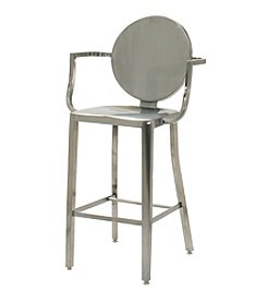Innerspace® Dalton Home Collection Stainless Steel Round Back Counter Height Stool