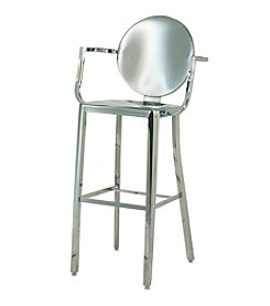 Innerspace® Dalton Home Collection Stainless Steel Round Back Bar Height Stool