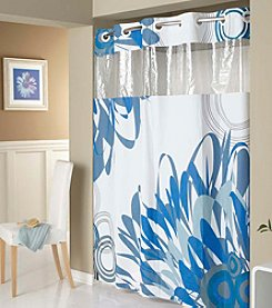 Hookless® Graphic Floral PEVA Shower Curtain
