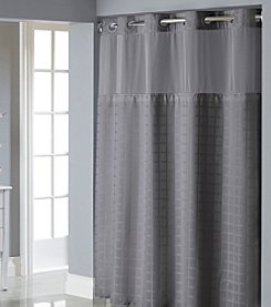 Hookless® Square Tile Jacquard Shower Curtain