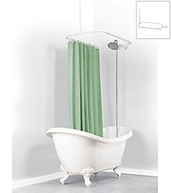 Zenna Home™ NeverRust Hoop Claw Foot Tub Shower Rod