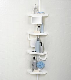 Zenna Home™ White Premium Tub and Shower Pole Caddy