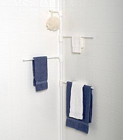 Zenna Home™ White Tub and Shower Towel Pole Caddy