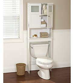 Zenna Home™ Wood Spacesaver Bath Storage with Glass Doors