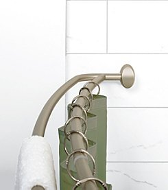 Zenna Home™ NeverRust Satin Nickel Double Curved Shower Rod
