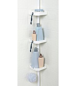 Zenna Home™ White Tub and Shower Tension Pole Caddy