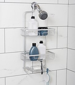 Zenna Home™ NeverRust Aluminum Shower Caddy with Two Bucket Shelves